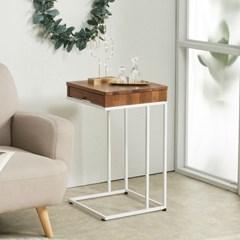 멀바우 원목 ㄷ자 좁은 차키 쇼파 서랍 사이드 테이블