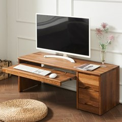 멀바우 원목 좌식 게임용 컴퓨터 작은 1인 책상 1050