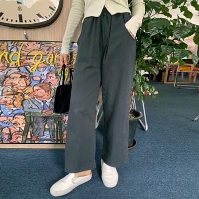 코지 바이오코튼밴딩팬츠 (6color)