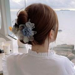 아이리 꽃모양 플라워 여성 집게핀
