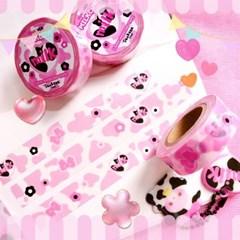 핑크 밀크카우 15mm 마스킹테이프