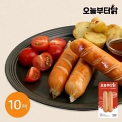 [오늘부터닭] 닭가슴살 소시지 리얼바베큐 120g 10팩
