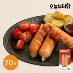 [오늘부터닭] 닭가슴살 소시지 리얼바베큐 120g 20팩