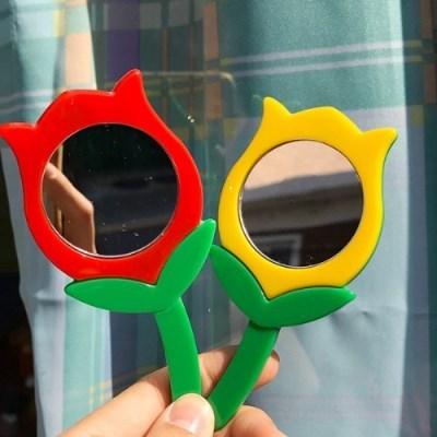 [수바코] 튤립 거울 키링 2종