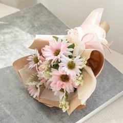 핑크거베라꽃다발 25cmP 조화 꽃 선물 기념일 FMBBFT