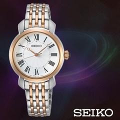 SEIKO 세이코 SUR628P1 여성 메탈밴드 손목시계