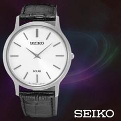 SEIKO 세이코 SUP873P1 남성 가죽밴드 손목시계