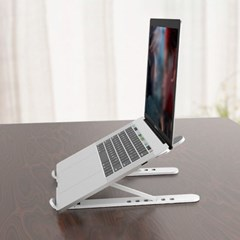 각도조절 접이식 노트북 받침대(화이트)