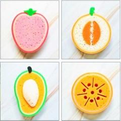 과일 모양 스펀지 수세미 4종 DD-10974