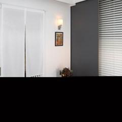 쉬폰 화이트 가리개 커튼 85x135cm