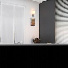 쉬폰 화이트 가리개 커튼 85x190cm