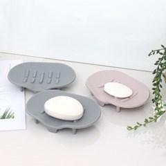 소프트 실리콘 욕실 다용도 비누 받침대 3개