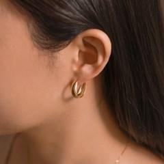 실버925 심플 데일리 베이직 볼륨 볼드 링 은 귀걸이
