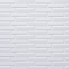 3D압축 Wood 폼블럭 무늬목 단열시트지 White Oblique Brick