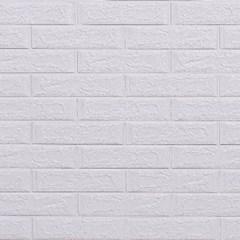 3D압축 Wood 폼블럭 무늬목 단열시트지 White Classical Brick