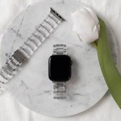 [모할랩] 필름,&시계줄 조절기 증정 / 애플워치 투명 아크릴 스트랩