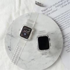 [모할랩] 필름 증정 / 애플워치 투명 젤리 클리어 스트랩
