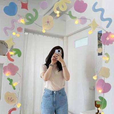 유리창 거울 창문 스티커 1+1 [리무버블 윈도우 카페 데코 포인트]