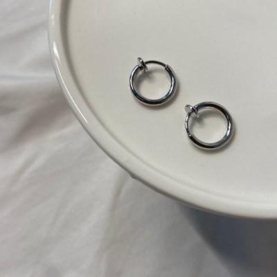 (실버추가) 작고 귀여운 데일리 링 귀찌 학생 귀걸이