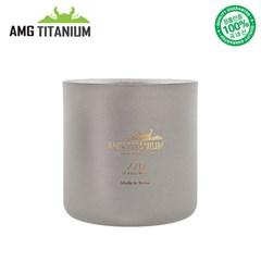 에이엠지티타늄 이중머그컵 샌딩 캠핑컵 캠핑용품 백패킹 등산용품 A