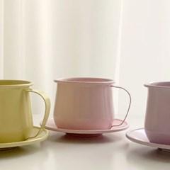 파스텔레인보우 법랑 커피잔세트 (3color 홈카페, 캠핑)