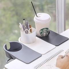책상 테이블 집게형 컵 수납 홀더 거치대 DD-10672