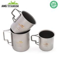에이엠지티타늄 싱글컵 샌딩 캠핑컵 티탄 캠핑용품