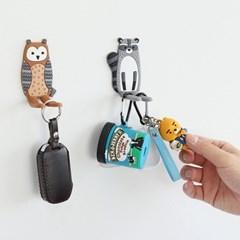 현관 냉장고 열쇠 마스크걸이