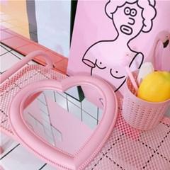 핑크 하트 인테리어 화장대 거울 2color DD-10868