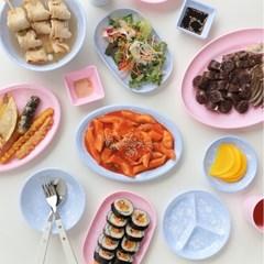 파스텔 마블 멜라민 분식 그릇 17종 2color 식기 컵 그릇