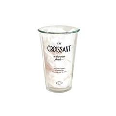 Croissant glass cup
