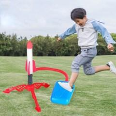 발사 에어로켓 발로 밟는 펌프 야외 캠핑 놀이 장난감 J