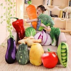 리얼한 3D 야채 과일 채소 인테리어 쿠션 피규어 인형 J