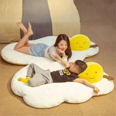 계란후라이 대형 캐릭터 바닥매트 깔개 방석 쿠션 J