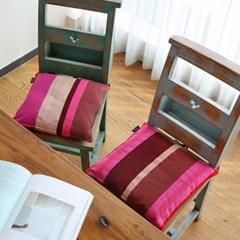 끈 식탁 의자 방석 타랄라플라워 (솜포함)
