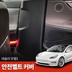 테슬라 모델3 카본 안전벨트 커버