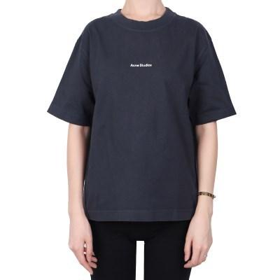 21FW 아크네 로고 티셔츠 (여성/네이비) AL013 NAVY