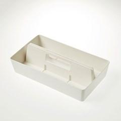 [모던하우스] 클리어 데스크 툴링 박스 화이트 30cm