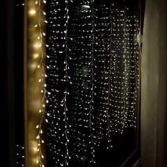 크리스마스 트리 LED 쥬얼리 커튼 전구 400구 코드형