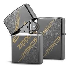 ZIPPO 라이터 250-18 웨이브 타투(블랙)