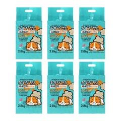 [룸펫] 두부랑캣츠 극세입자 오리지널 2.8kg- 6개