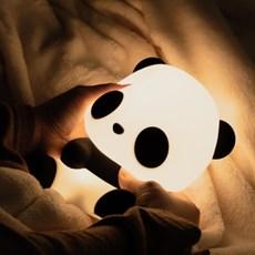 LED 에버랜드 아기판다 푸바오 실리콘 무드등/수유등