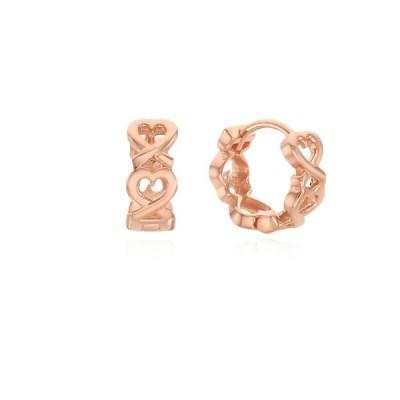 하트 꼬임 로즈골드 원터치 귀걸이 OTE121804NPP