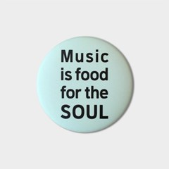 [pin button] Music is food for the soul 뮤직 핀버튼 브로치