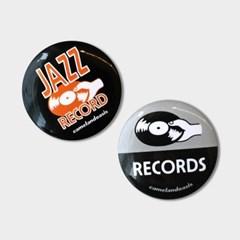 [pin button] Jazz Record 재즈 레코드 뮤직 핀버튼 브로치