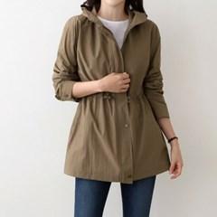 여자 주름 셔링 모던한 분위기의 사파리 야상 자켓