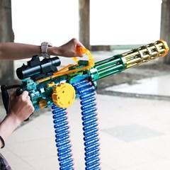 스펀지 기관총 연속발사 게틀링 따발총 삼각대포함