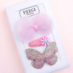 메르시밴드 팅커벨 하프 선물세트 3P (핑크)