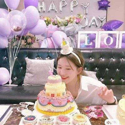 1+1 생일파티 머리띠 케이크모자 파티용품