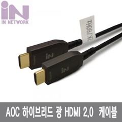 하이브리드 HDMI 2.0 AOC 광 케이블 10M